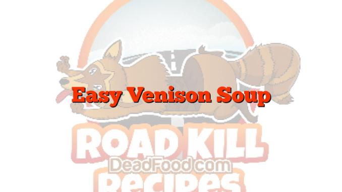 Easy Venison Soup
