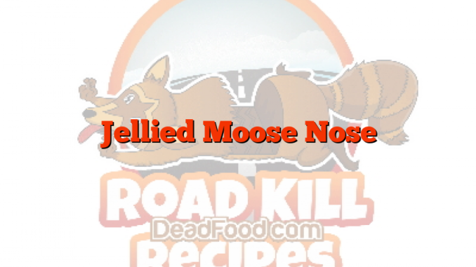 Jellied Moose Nose