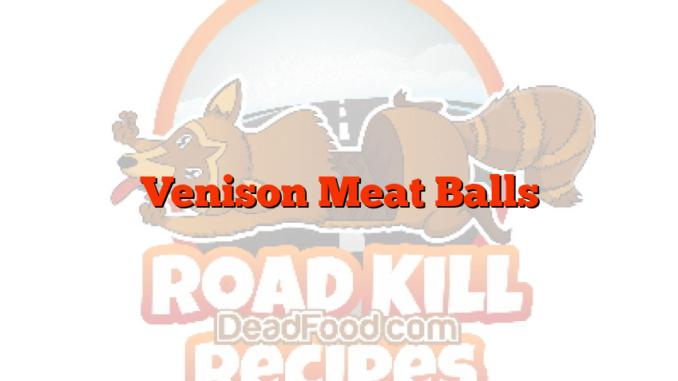 Venison Meat Balls
