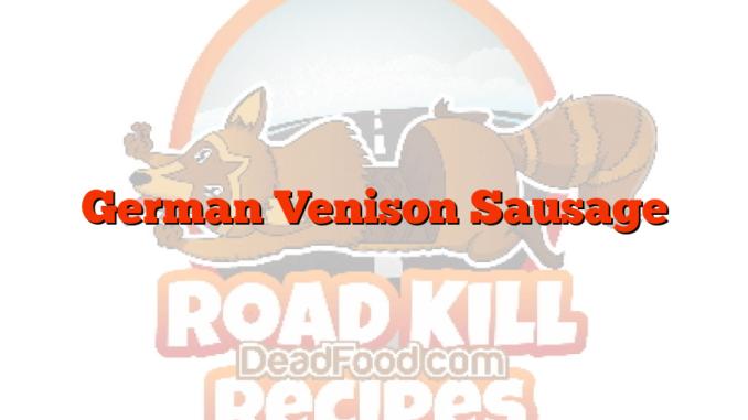 German Venison Sausage