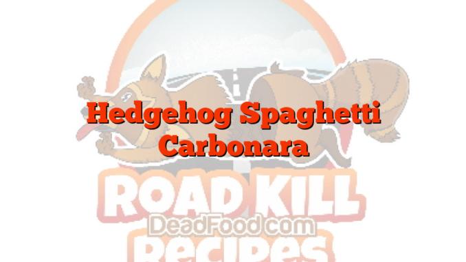 Hedgehog Spaghetti Carbonara