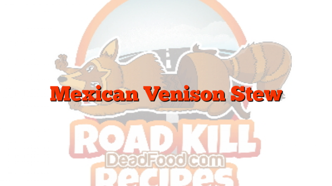 Mexican Venison Stew