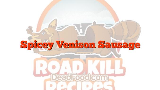 Spicey Venison Sausage