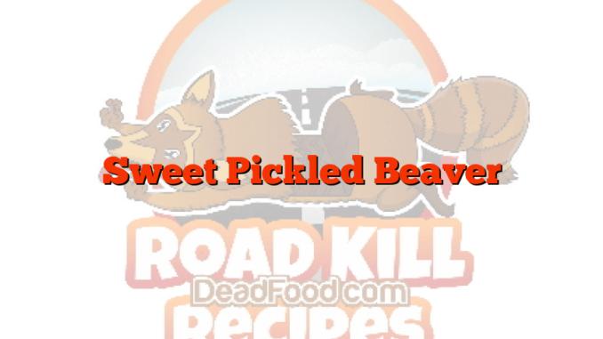 Sweet Pickled Beaver